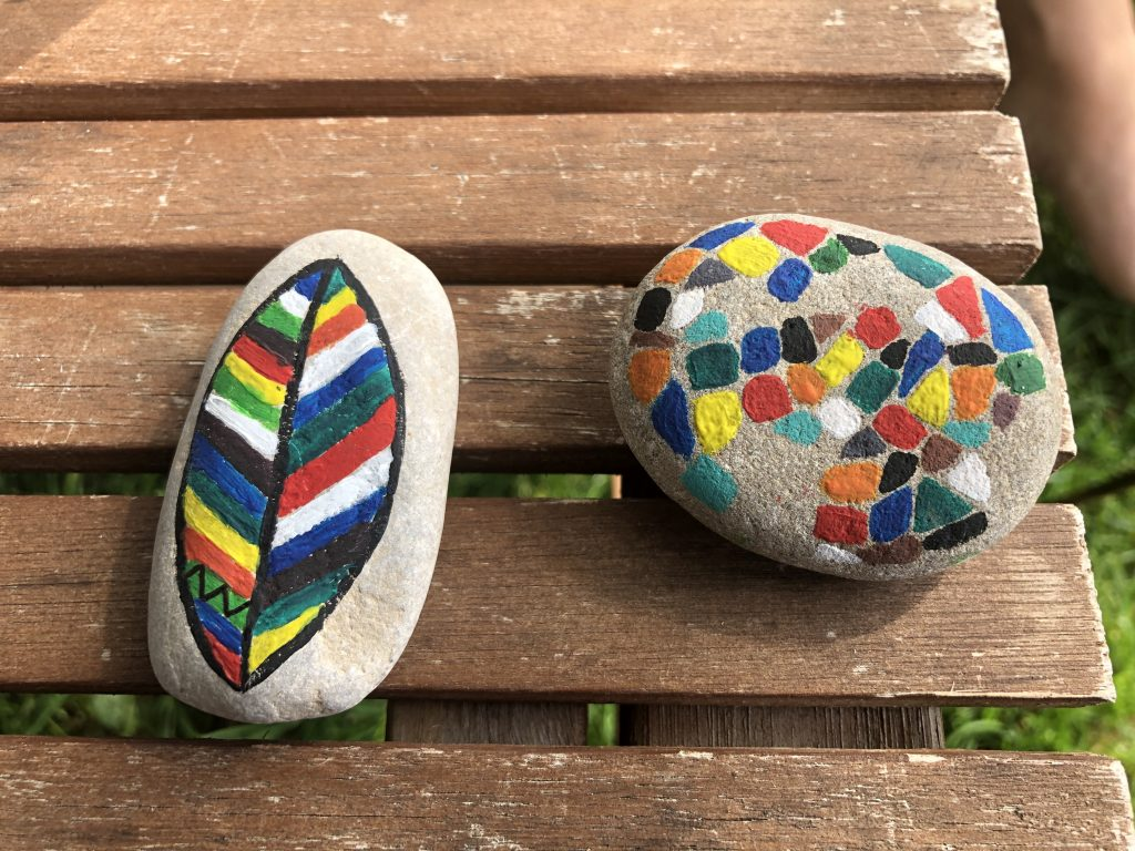 Photo of brightly painted stones